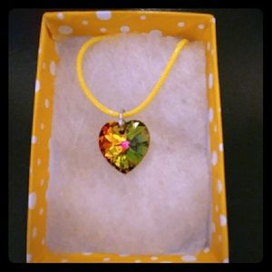 Jewelry - Summer Green Crystal Heart Necklace